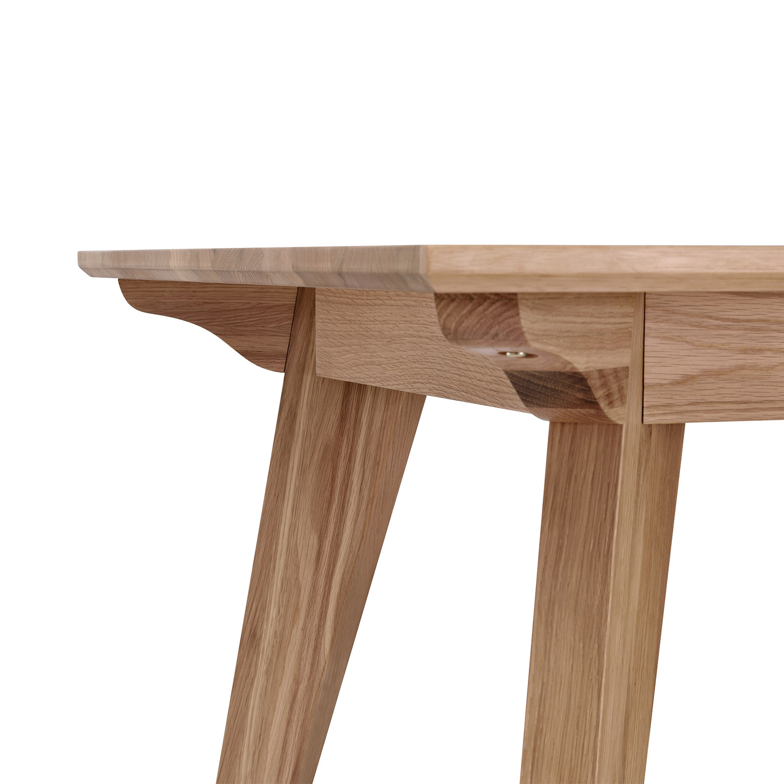 Alison white oak natural veneer dining table modern design - Oak veneer dining table ...