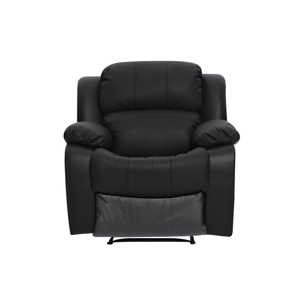 home kacey brand new black leather single seater chair recliner
